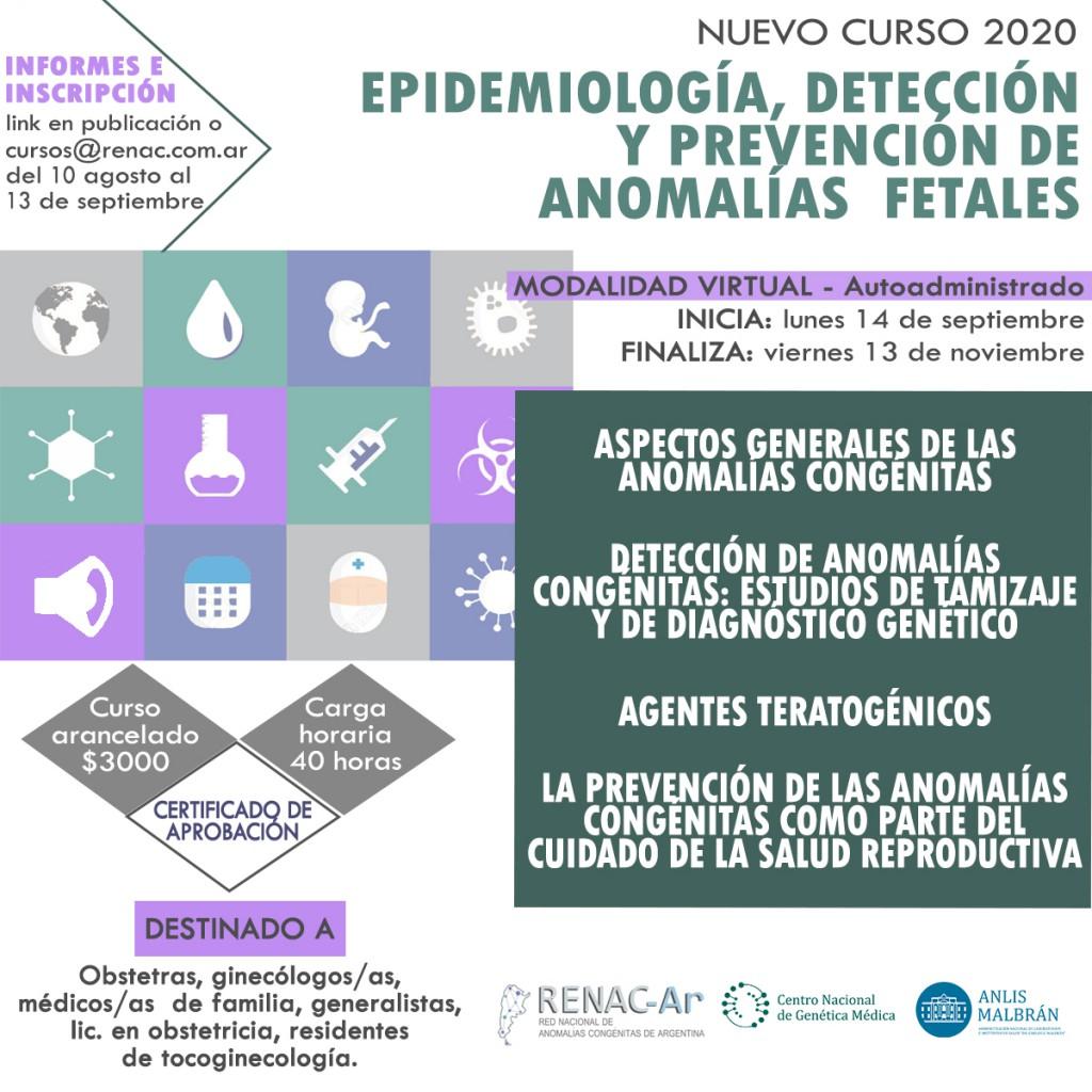 FLYER CURSO EPIDEMIOLOGIA, DETEC Y PREV DE AC FETALES 2020