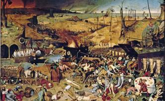 """Foto del Medievo - """"El triunfo de la muerte"""" Autor: Pieter Brueghel Museo del Prado - Madrid, España Poner: La Peste Bubónica origino tres grandes pandemias en la historia de la humanidad. Actualmente, sigue habiendo focos de esta enfermedad en Asia, África y América."""