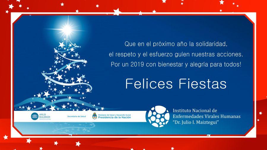 Tarjeta Felices Fiestas 2019