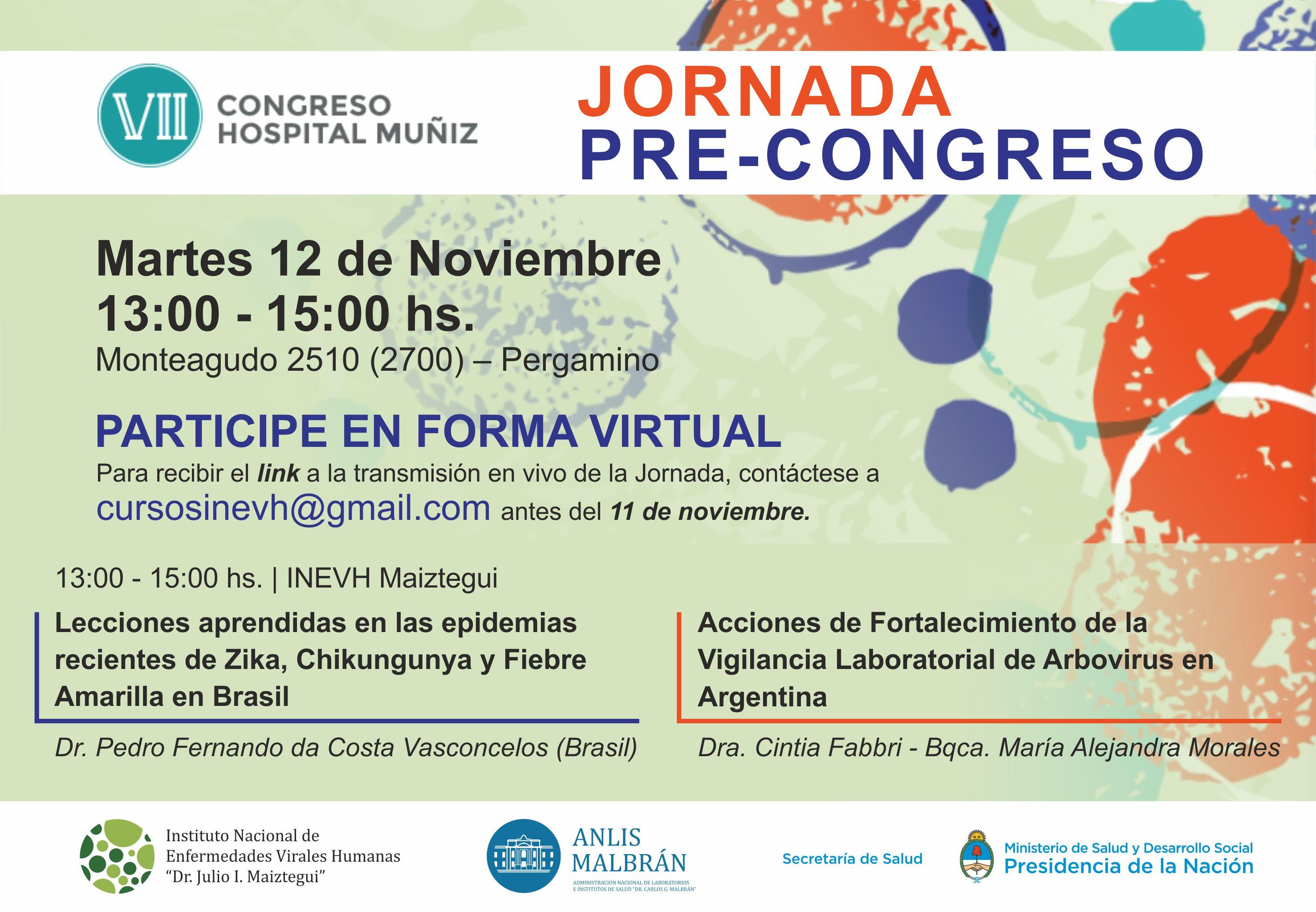 Cartel JORNADA PRE-CONGRESO-